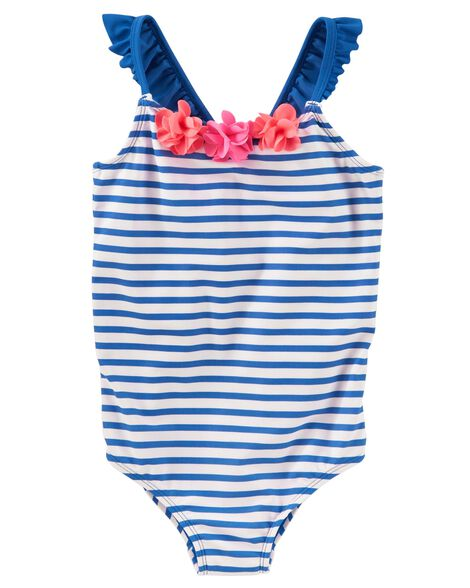 Display product reviews for OshKosh Flowers & Stripes Swimsuit