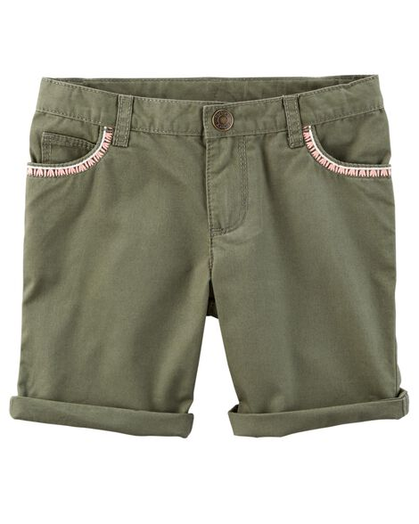 Display product reviews for Embroidered Twill Shorts