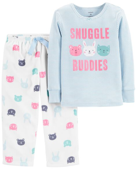 Display product reviews for 2-Piece Snuggle Buddies Snug Fit Cotton & Fleece PJs