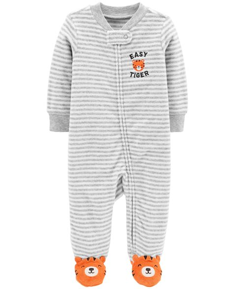 Display product reviews for Tiger Zip-Up Terry Sleep & Play