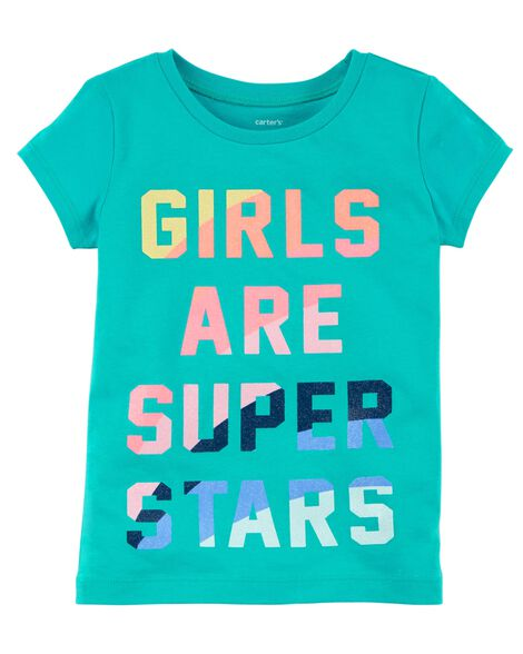Display product reviews for Girls Are Super Stars Jersey Tee