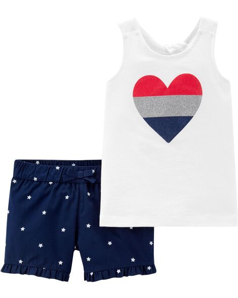 4a47b5ab1a0 Display product reviews for 2-Piece 4th Of July Tank   Star Short Set