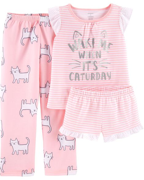 Display product reviews for 3-Piece Cats Poly PJs