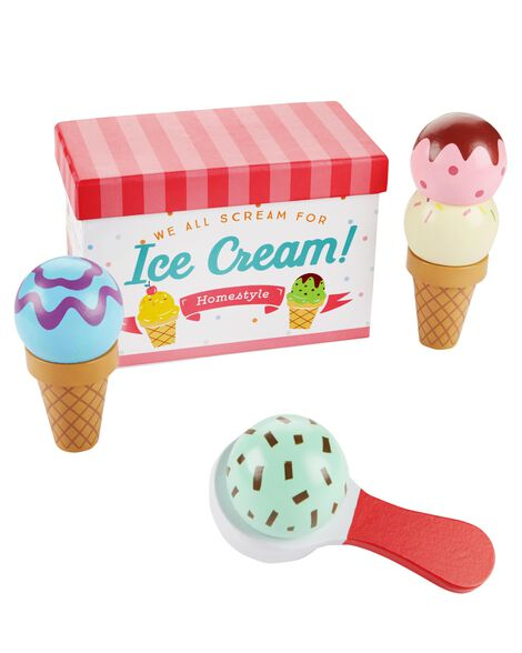 Display product reviews for Wooden Ice Cream Set
