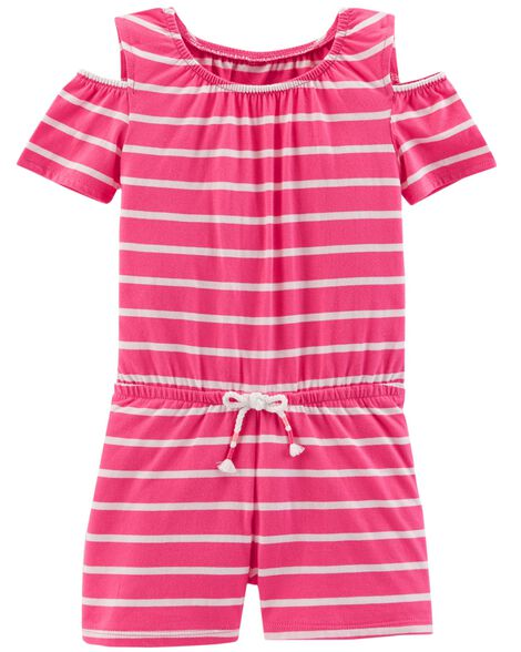 Display product reviews for Cold Shoulder Striped Romper