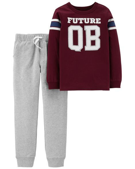 Display product reviews for 2-Piece Quarterback Tee & French Terry Jogger Set