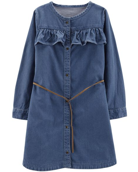 Display product reviews for Belted Denim Shirt Dress