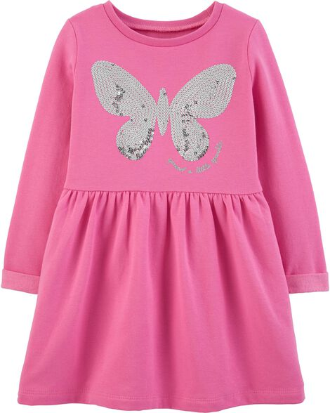 Display product reviews for Sequin Butterfly Fleece Dress