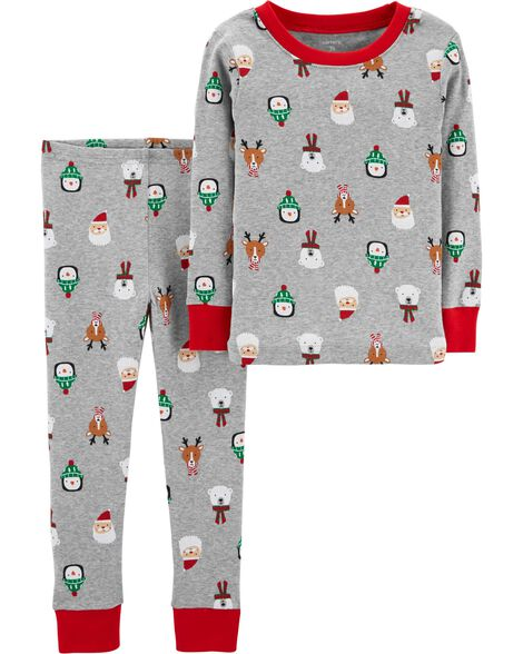 Display product reviews for 2-Piece Kid Christmas Snug Fit Cotton PJs