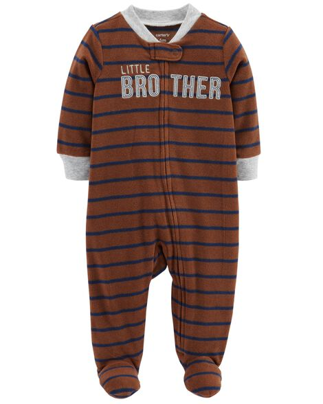 Display product reviews for Little Brother Fleece Zip-Up Sleep & Play