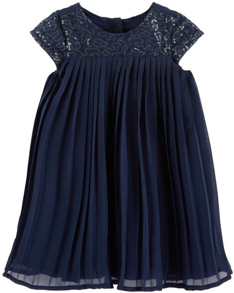 Display product reviews for Sequin Pleated Dress