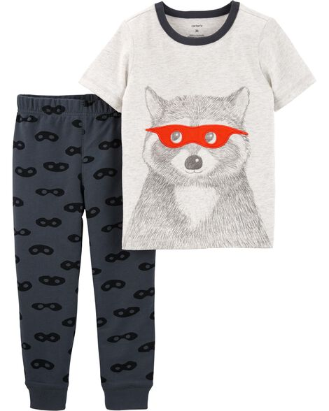 a61ebae3 Display product reviews for 2-Piece Raccoon Jersey Tee & Mask Print Jogger  Set