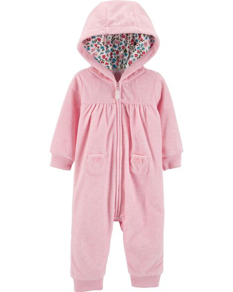 Display product reviews for Bear Hooded Fleece Jumpsuit