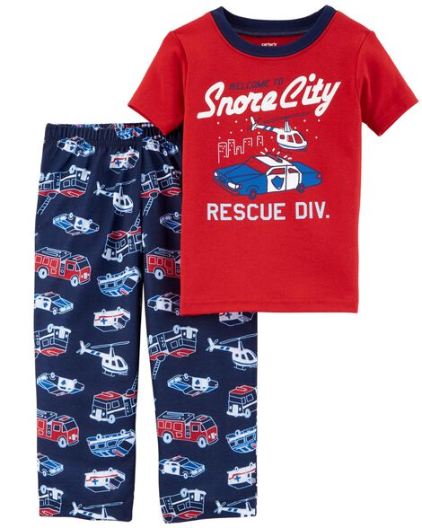 Display product reviews for 2-Piece Hero Cotton & Poly PJs