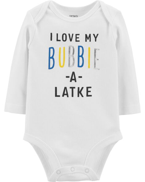Display product reviews for Love My Bubbie Hanukkah Bodysuit