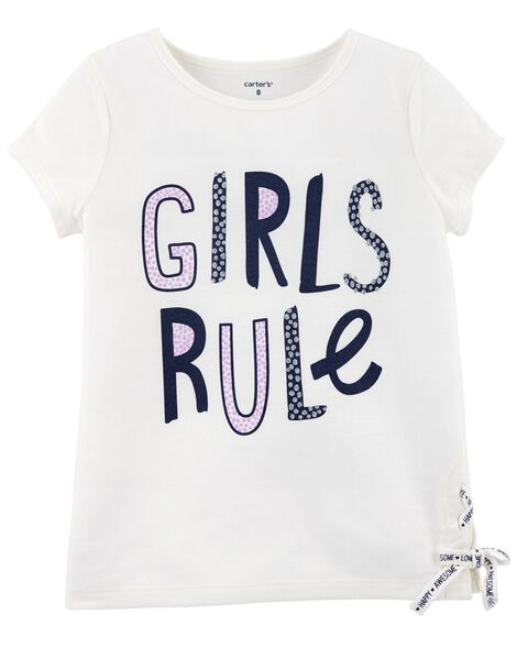 Display product reviews for Girls Rule Lace Up Tee