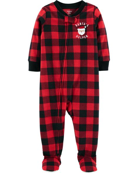 Display product reviews for 1-Piece Christmas Fleece PJs