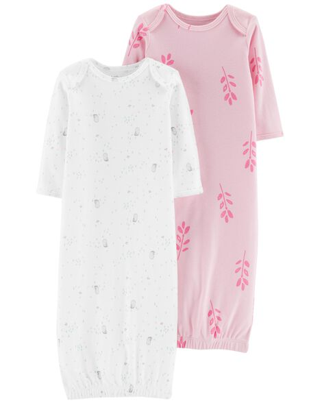 Display product reviews for 2-Pack Certified Organic Sleeper Gowns