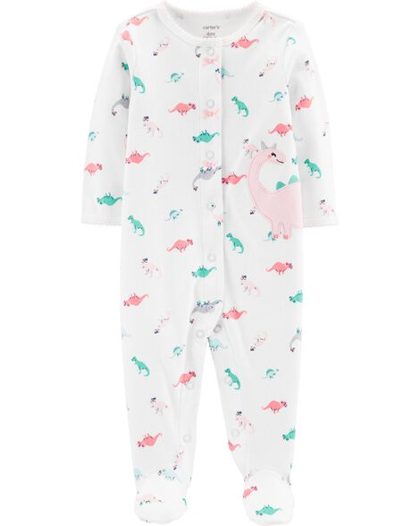 Display product reviews for Dinosaur Snap-Up Cotton Sleep & Play
