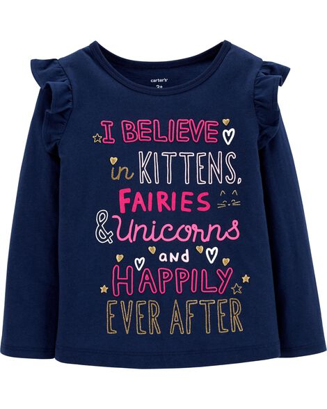 Display product reviews for Glitter Unicorn Flutter Tee