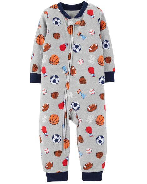 Display product reviews for 1-Piece Sports Fleece Footless PJs
