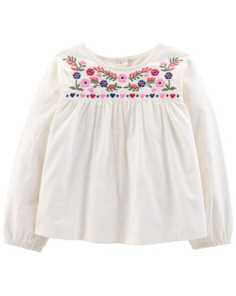 Display product reviews for Floral Embroidered Top