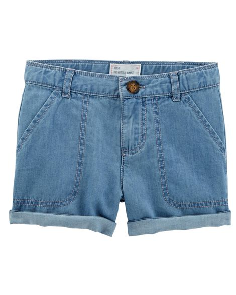 Display product reviews for Denim Roll-Cuff Shorts