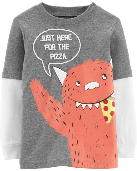 ab3cd69bf8a5 Display product reviews for Pizza Monster Layered-Look Tee
