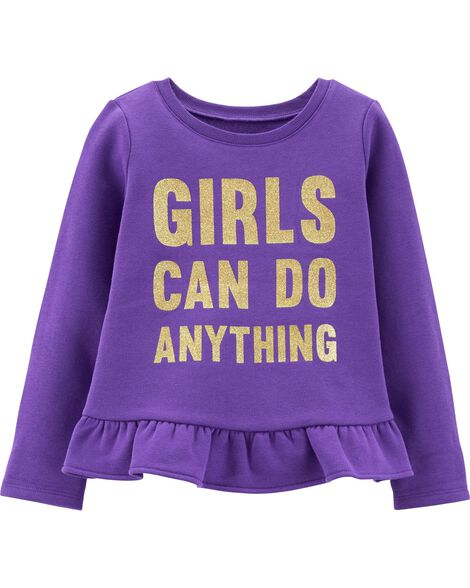 Display product reviews for Glitter Girls Can Do Anything Fleece Top