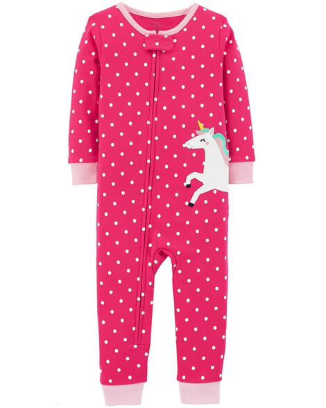 Display product reviews for 1-Piece Unicorn Snug Fit Cotton Footless PJs