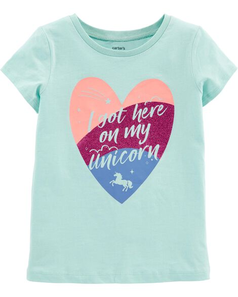 ea9421383079 Display product reviews for I Got Here On My Unicorn Jersey Tee