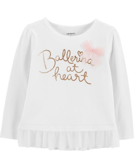 Display product reviews for Ballerina Tulle Ruffle Tee