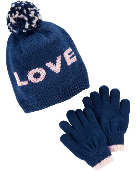 Display product reviews for Pom Pom Hat & Glove Set