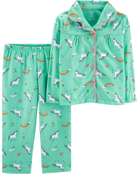 Display product reviews for 2-Piece Unicorn Lightweight Fleece PJs