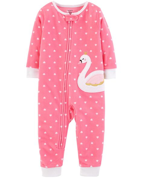 Display product reviews for 1-Piece Swan Fleece Footless PJs