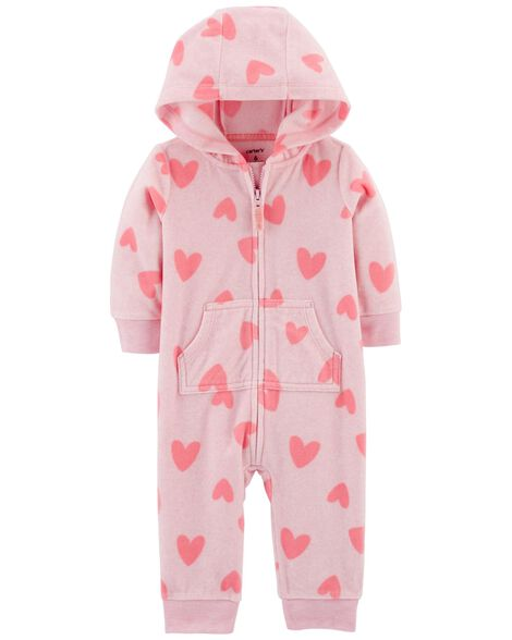 Display product reviews for Heart Fleece Hooded Jumpsuit
