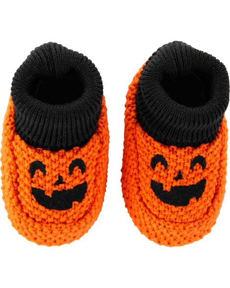 Display product reviews for Halloween Pumpkin Knit Booties