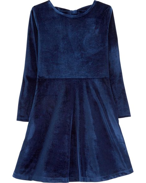 Display product reviews for Stretch Velour Bow Dress
