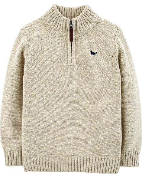 Display product reviews for Half-Zip Pullover Sweater