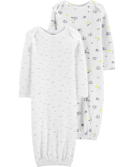 adb4263a7c Display product reviews for 2-Pack Certified Organic Sleeper Gowns