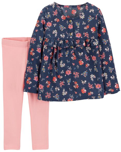 Display product reviews for 2-Piece Floral Top & Legging Set