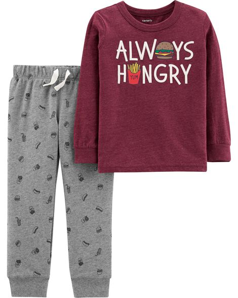 Display product reviews for 2-Piece Food Snow Yarn Pullover & Jogger  Set