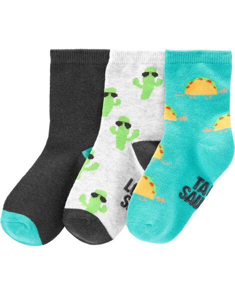 Display product reviews for 3-Pack Tacos & Cactus Crew Socks