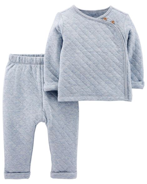 Display product reviews for 2-Piece Quilted Heather Top & Pant Set