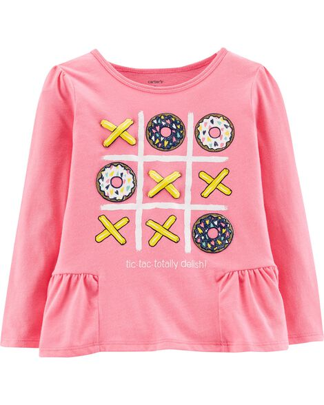 88984a94 Display product reviews for Tic-Tac-Toe Ruffle Tee
