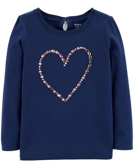 Display product reviews for Rhinestone Heart Top