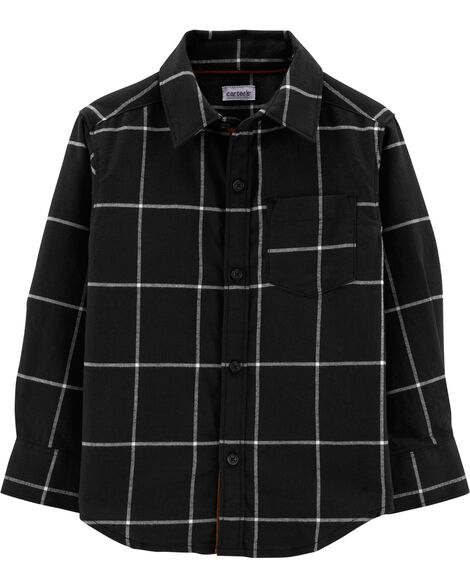 Display product reviews for Checkered Twill Button-Front Shirt