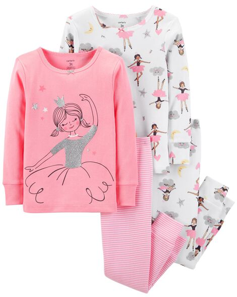 Display product reviews for 4-Piece Ballerina Snug Fit Cotton PJs