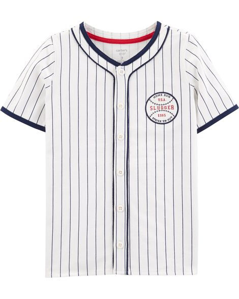 57c0faf48 Display product reviews for Americana Baseball Button-Front Shirt