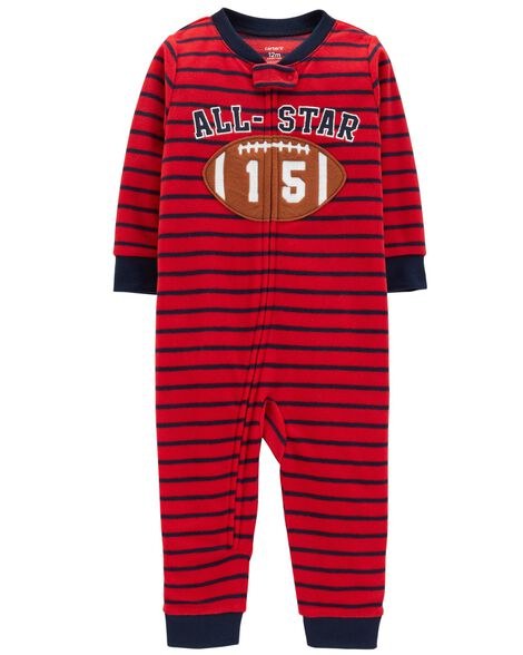 Display product reviews for 1-Piece Football Fleece Footless PJs